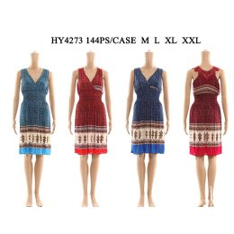 48 of Womens Fashion Short Sun Dress In Assorted Color And Size