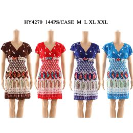 48 of Womens Fashion Short Summer Dress In Assorted Color And Size