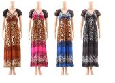 48 of Women Fashion Printed Summer Dress Assorted Colors