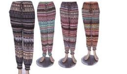60 of Ladies Printed Lounge Pants Summer Pants Cotton Blend