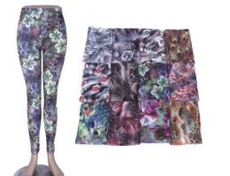 72 of Womens Fashion Legging Assorted Styles, And Size Polyester Lycra Blend