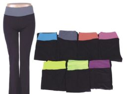72 of Womans Assorted Color Yoga Pants Assorted All Sizes