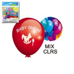 96 of Twelve Inch Ten Count Baby Shower Balloon