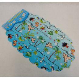 "60 of 26""x15"" Printed Seashell Bath Mat"