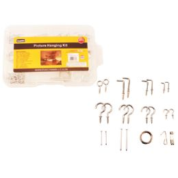 72 of 92pc Picture Hanging Kit With Tool Box