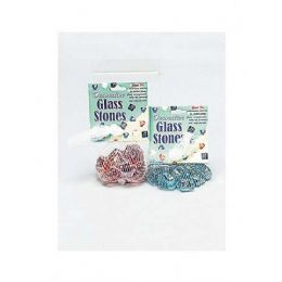 60 of Stars And Hearts Glass Stones (assorted Colors)