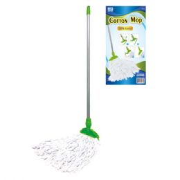 24 of Cotton Mop With Wooden Handle