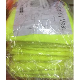 72 of Super Reflective Safety VesT--Yellow OnlY- Yellow Saftey Vest