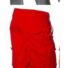 12 of Men's Fashion Cargo Shorts In Red Only
