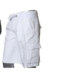 12 of Men's Fashion Cargo Shorts In White Only