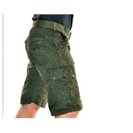 12 of Men's Cargo Shorts With Belt - Olive Only