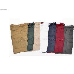 12 of Men's Cargo Shorts Burgundy Color