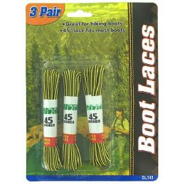 72 of 3 Pair Boot Laces