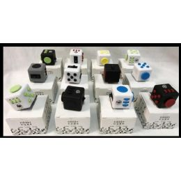 12 of Wholesale Fidget Cubes Assorted
