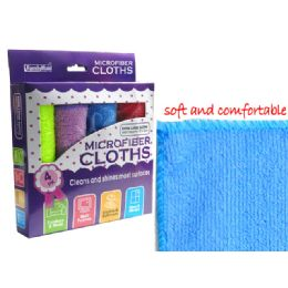 96 of 4 Piece Microfiber Cleaning Cloth