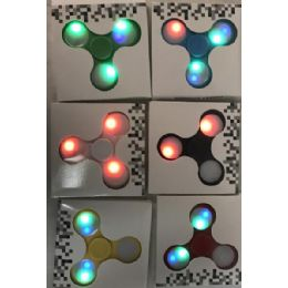 24 of Light Up Fidget Spinner Assorted
