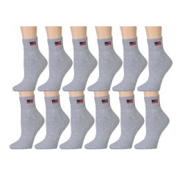 180 of Yacht & Smith Women's USA American Flag Low Cut Ankle Socks, Size 9-11 Gray