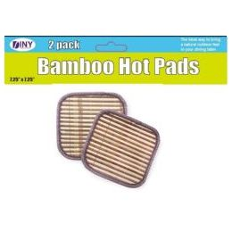 48 of Set Of 2 Bamboo Hot Pads Trivets