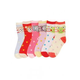 144 of Baby Girls Animal Printed Crew Socks
