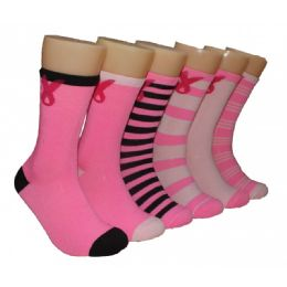 360 of Women's Breast Cancer Awareness Crew Socks