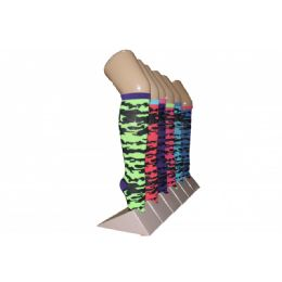 240 of Girls Camo Pattern Knee High Socks