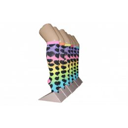 240 of Girls Rainbow Hearts Knee High Socks