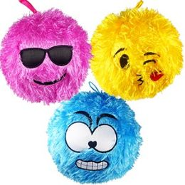 48 of Large Inflatable Shaggy Emoji Balls.