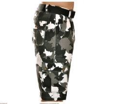 12 of Men's Fashion Cargo Camo Shorts Camouflage Black Only
