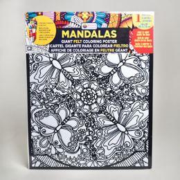 48 of Coloring Poster 16 X 20 Felt Mandalas 6 Assorted