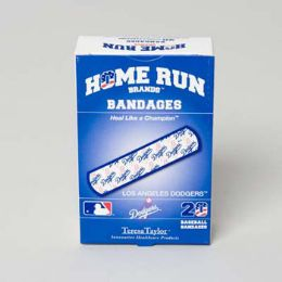 72 of Bandages 20ct Box Home Run Brands -La Dodgers