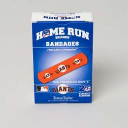 72 of Bandages 20ct Box Home Run Brands -San Francisco Giants