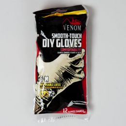96 of Gloves 12ct Latex S-M Smooth Touch Disposable Venom Brand