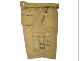 12 of Men's Cargo Shorts In Olive Color
