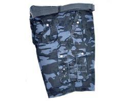 12 of Men's Cargo Shorts In Navy Color Beige