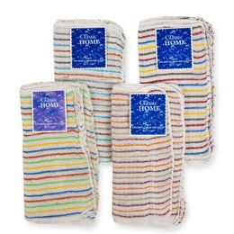 144 of Dish Cloth Waffle Weave 11x11 6pk Assorted Stripes [20160]