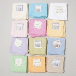 144 of Wash Cloths 2 Pack 12 X 12 Assorted Colors