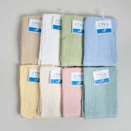 64 of Bar Mop Towels 2pk 13 X 16 Assorted Colors -