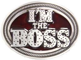 24 of Im The Boss Belt Buckle