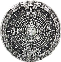 24 of Aztec Calendar Belt Buckle