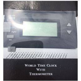 48 of World Time Clock With Thermometer