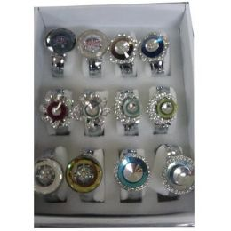 36 of Women's Assorted Bangle Watches With Stones