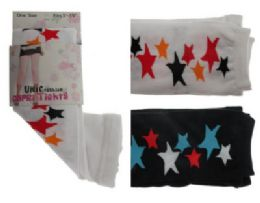 48 of Black And White Capri Tights With Star Designs.