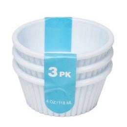 96 of Ramekin 3pk White Plastic