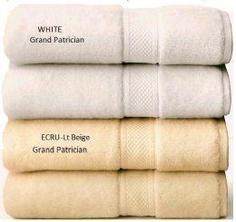 12 of Grand Patrician Suites White Bath Towels 30 X 56