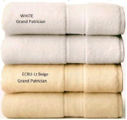 24 of Grand Patrician Suites White Hand Towel 16 X 26