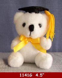 "36 of 4.5"" White Graduation Bear"