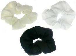 72 of Assorted Color Nylon Scrunchies
