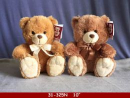 """24 of 10"""" Beige And Brown Plush Bear"""