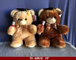 "12 of 15"" Soft Plush Grad Bear"