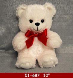"24 of 10"" Soft White Plush Bear"